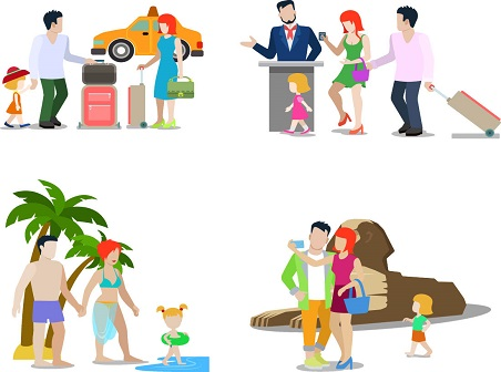 family vacation vector10 free vector downloads free vector rh freevectordownload com free vector illustrations icons free vector illustrations icons