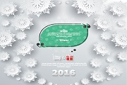 2016 winter snow card vector