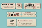 4 Creative concert tickets vector