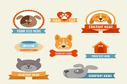 8 creative pet label vector
