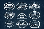 9 creative bike shop badge vector