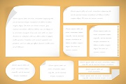 9 white paper design vector