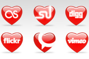 12 St.Valentines day Icons
