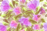 Abstract Seameless Floral Backgroun