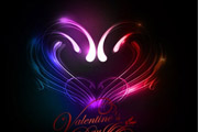 Abstract Valentines Day Colorful