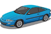 Blue Car Vector