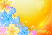 Bright Flowers Vector Background