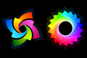 Colorful Logotype Set