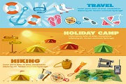 Creative outdoor resort vector bann