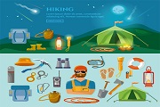 Creative outdoor resort vector 2