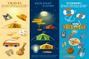 Creative outdoor resort vector3