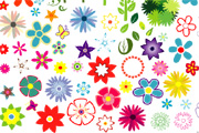 Flowers Vector Set 2