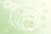 Green Stars Background Vector