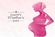 Mothers day color card vector