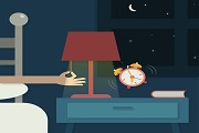 Night alarm clock illustration vect