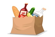 Shopping bag food vector