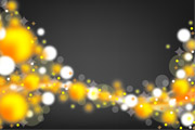 Yellow and white bubbles background