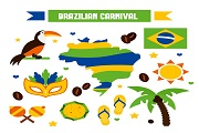 brazilian carnival elements vector