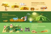 creative outdoor resort vector