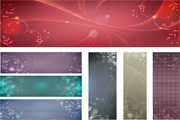 Free flowery vector backgrounds