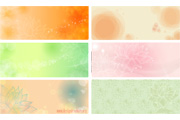 Free flowery vector backgrounds 02