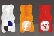 Gummy social icon set