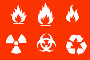 naturals disasters icons pack