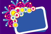 Retro colorful banner