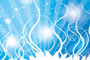 Swirls Blue Shinning Vector design