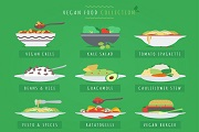vegan food  vector collection